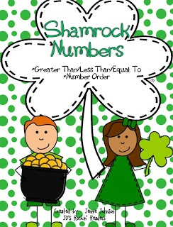 Shamrock Numbers- greater than/less than and ordering numbers up to 120. FREEBIE