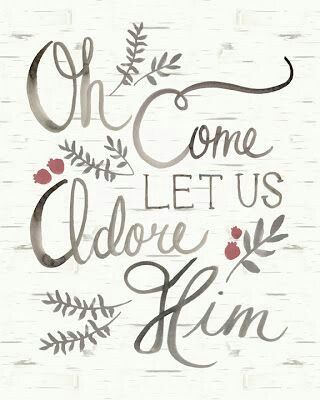 """Oh, Come Let Us Adore Him."" <3 CHRISTmas"