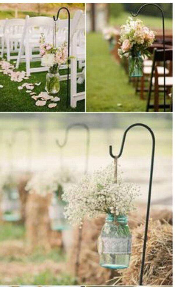 Love this flower lined walkway for an outside wedding!