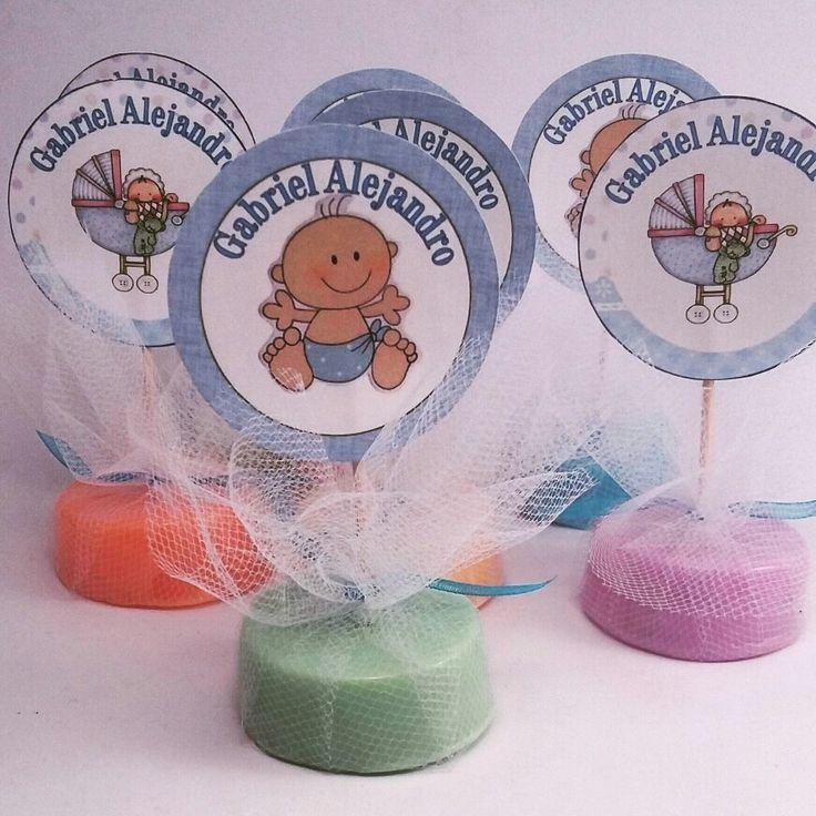 Jabon de glicerina baby shower