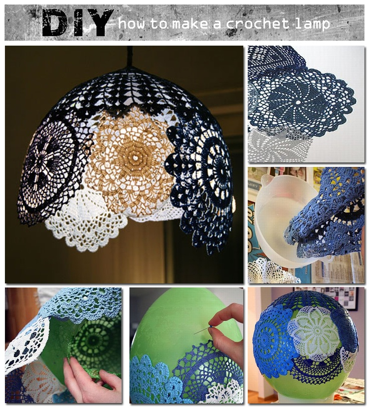 how to make a crochet lamp