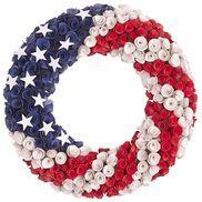 Pier 1 - Patriotic Wood Curl Wreath