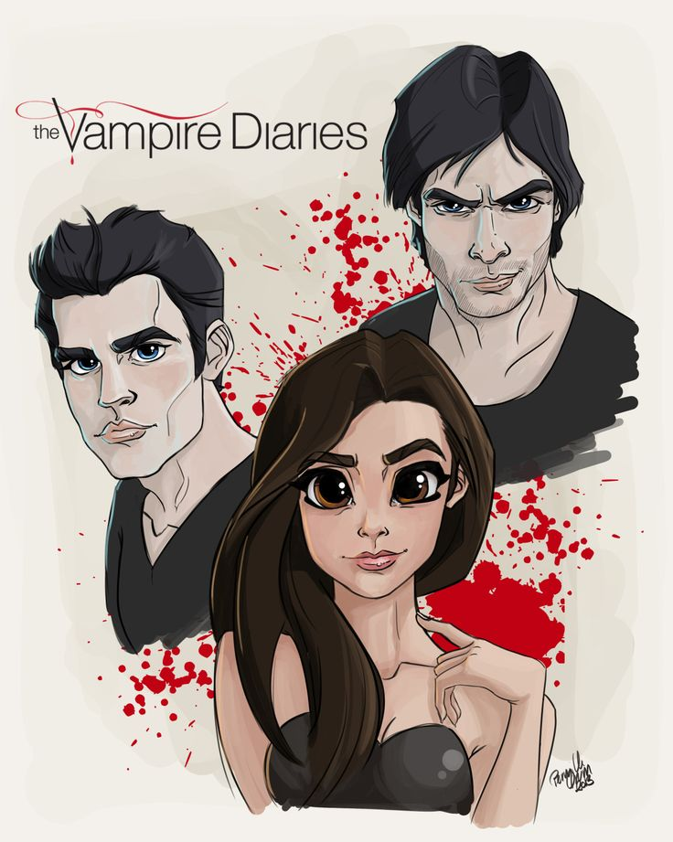Here's the fan art of the day… The Vampire Diaries