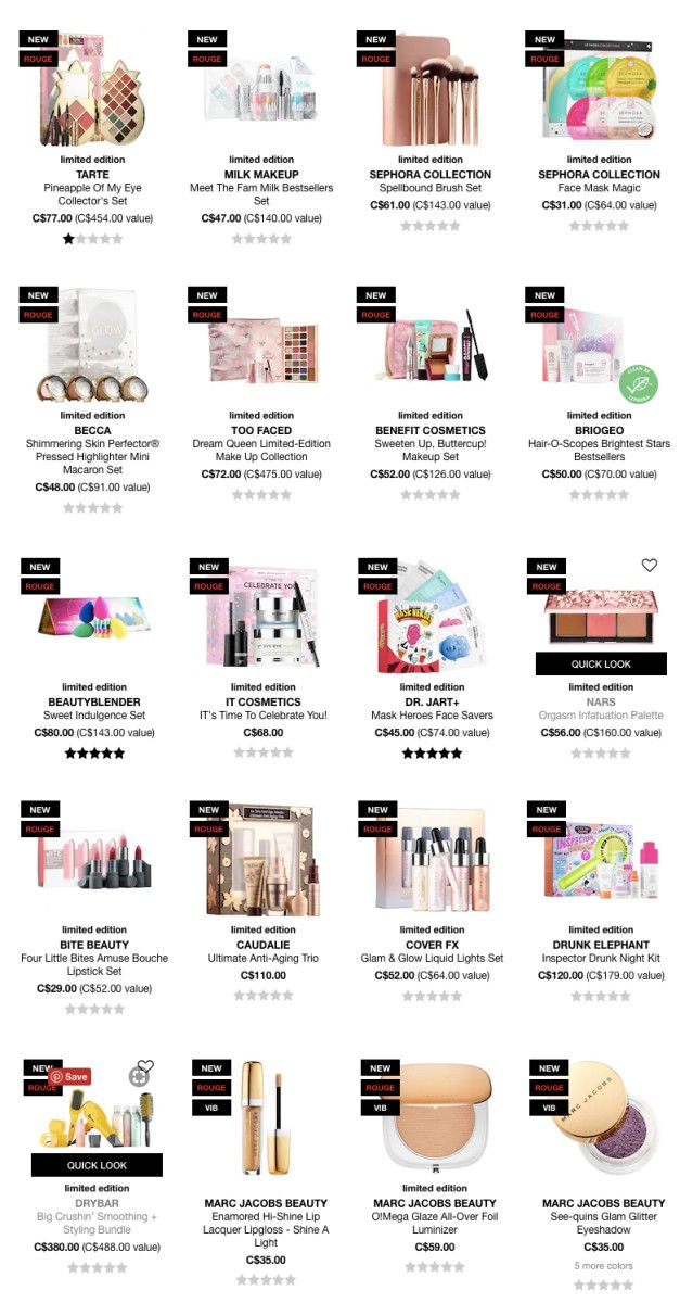 Christmas Gift Sets 2019.Sephora Holiday 2018 Gift Sets The First Wave Makeup