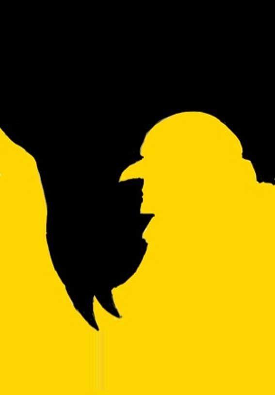#diseño #grafico #ilusion #optica #batman #pinguino #amarillo #negro