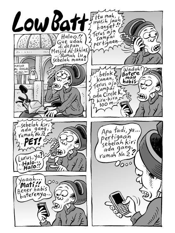 Kartun Benny, 100 Peristiwa: Low Batt