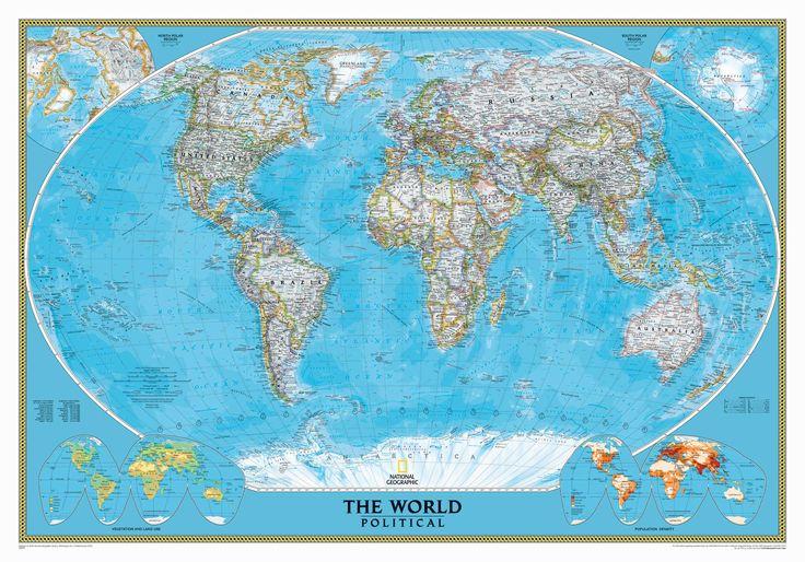 Las 25 mejores ideas sobre mapa mural del mundo en pinterest murales de pared para dormitorio - Fotomurales national geographic ...