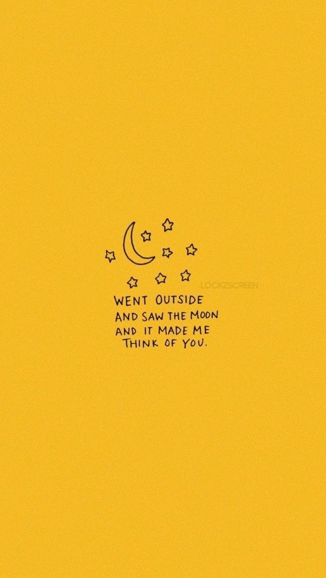 Went Outside And Saw The Moon And It Made Me Think Of You