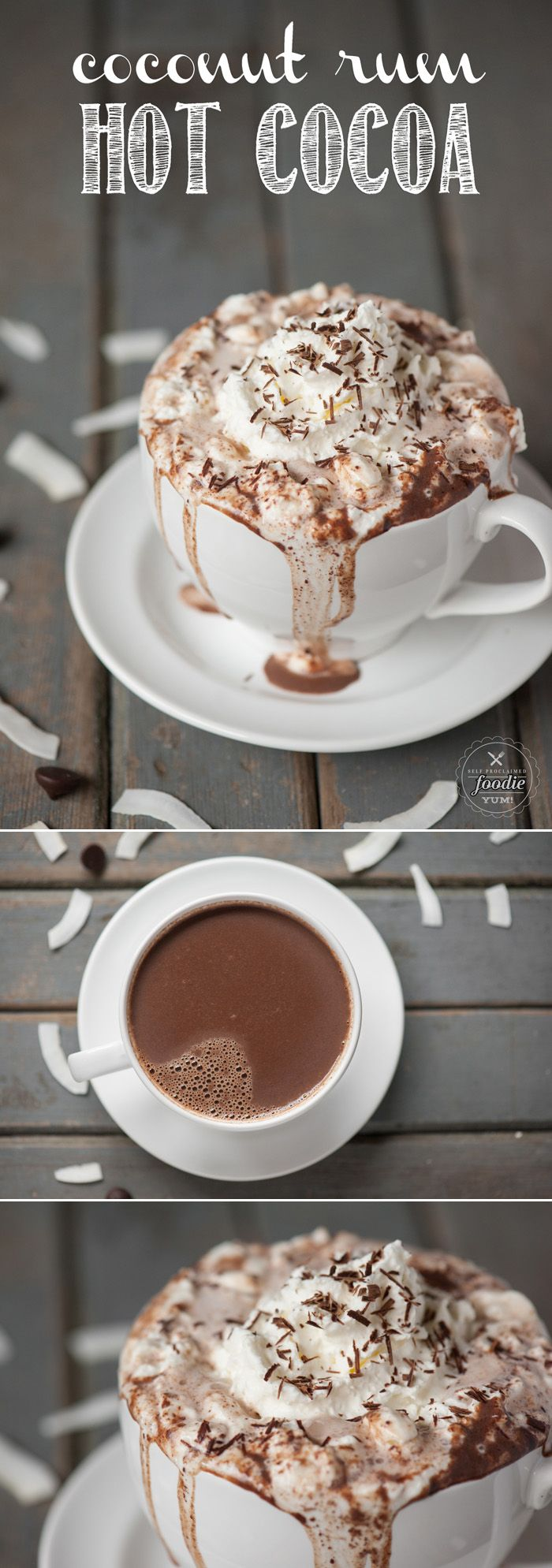 Cioccolata calda rum e cocco
