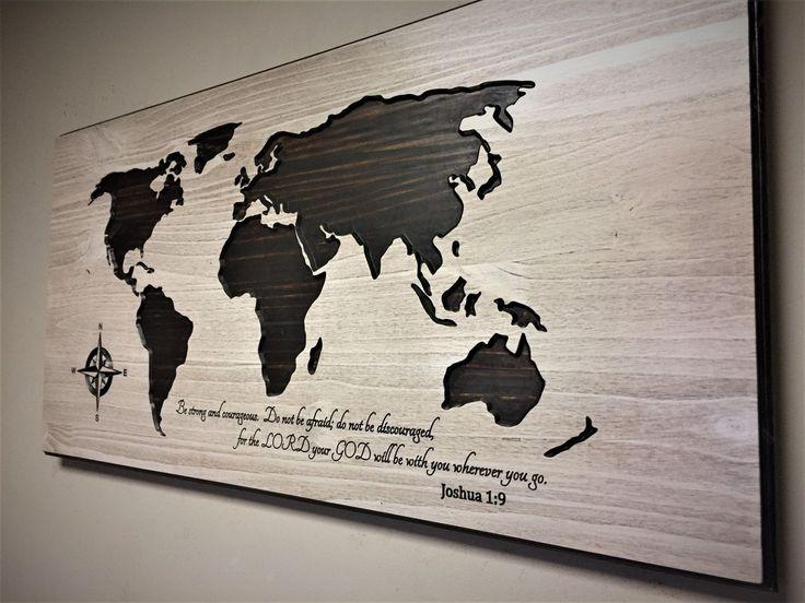 The 25 best wood world map ideas on pinterest world map wall nursery room decor religious wall art wood world map wood wall art gumiabroncs Gallery