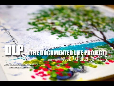 DLP 2015 - week 7 (documented life project) - YouTube  Image transfer of a tree/winter scene and then transformed into a summer scene with acrylic dots and stencils.