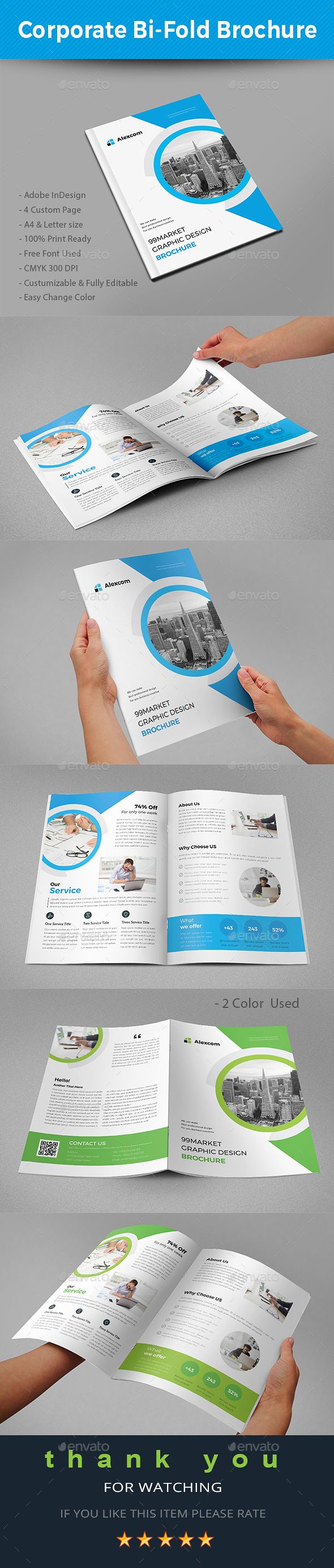 Best Bifold Brochure Images On Pinterest Brochure Template - Bi fold brochure template indesign