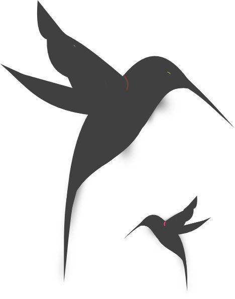 Small Black and White Hummingbird Tattoos | Black Hummingbird Silhouette clip art