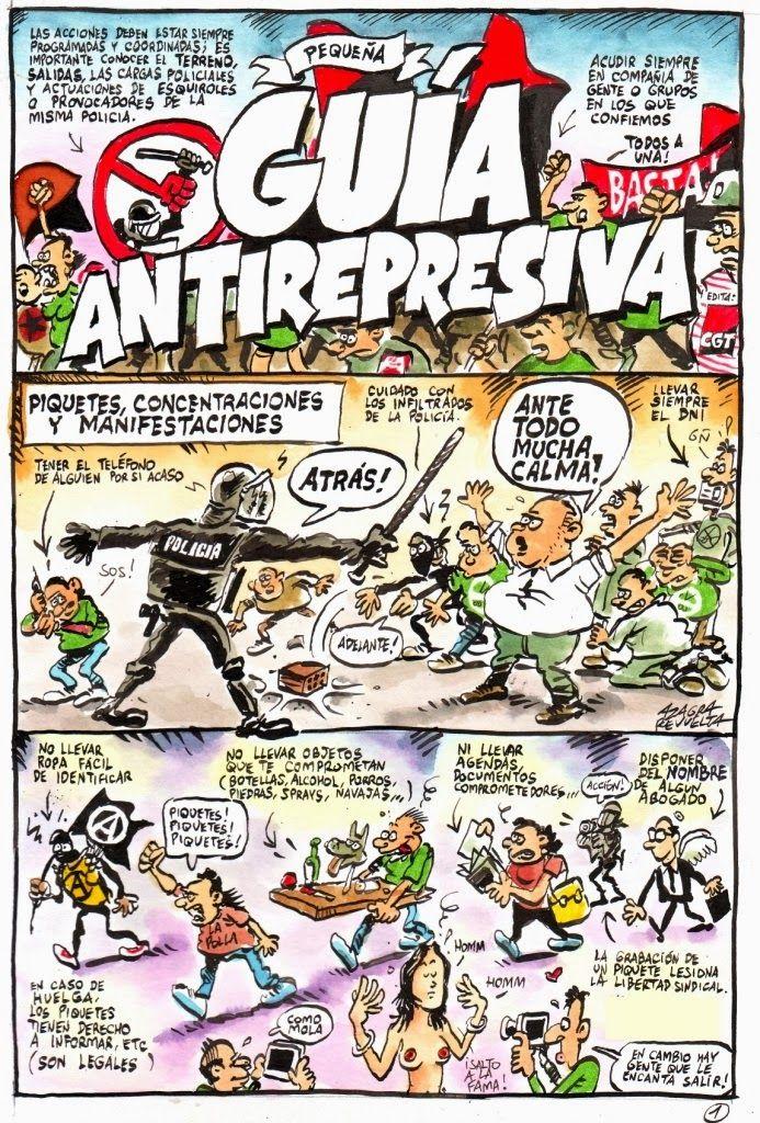 El Libertario: Anarquismo y movimientos sociales autónomos: Pequeña guía anti-represiva ilustrada