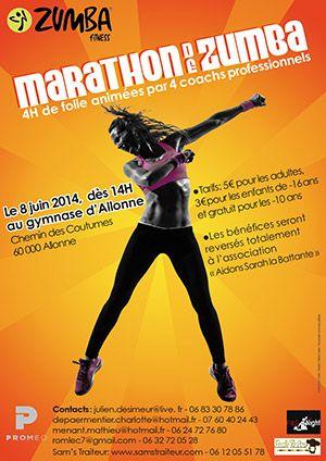 Marathon de zumba. Le dimanche 8 juin 2014 à Beauvais.  14H00