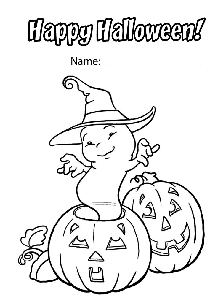 funny halloween coloring pages - photo#34