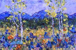 Judith Babcock | Impresionizmus Aspen Tree Colorado krajinomaľby sláve jari Colorado impresionistické Judith Babcock