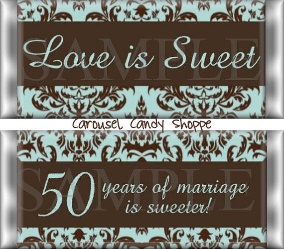 Love is Sweet 50th Wedding Anniversary by carouselcandyshoppe, $37.50