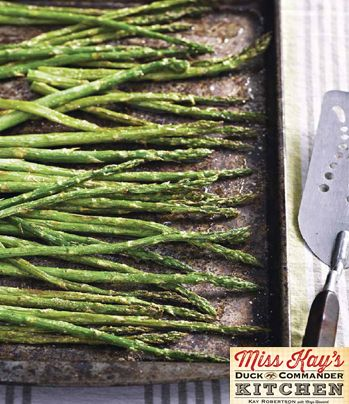 Broiled Asparagus from Miss Kay's Duck Commander Kitchen #Recipes #Cookbook #DuckDynasty #FreeBook