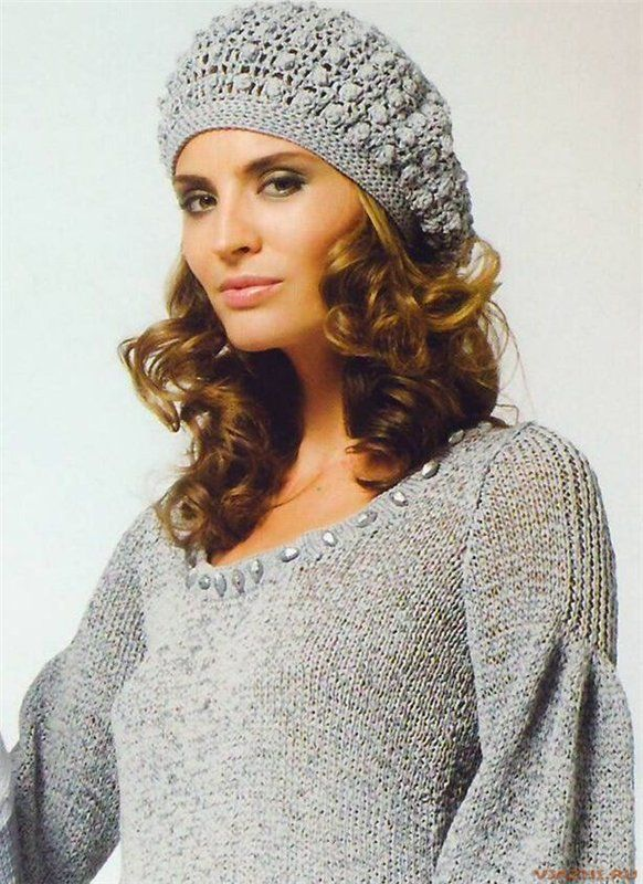 Gray Beret free crochet graph pattern