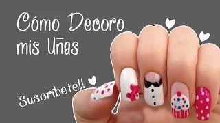 decorando uñas - YouTube