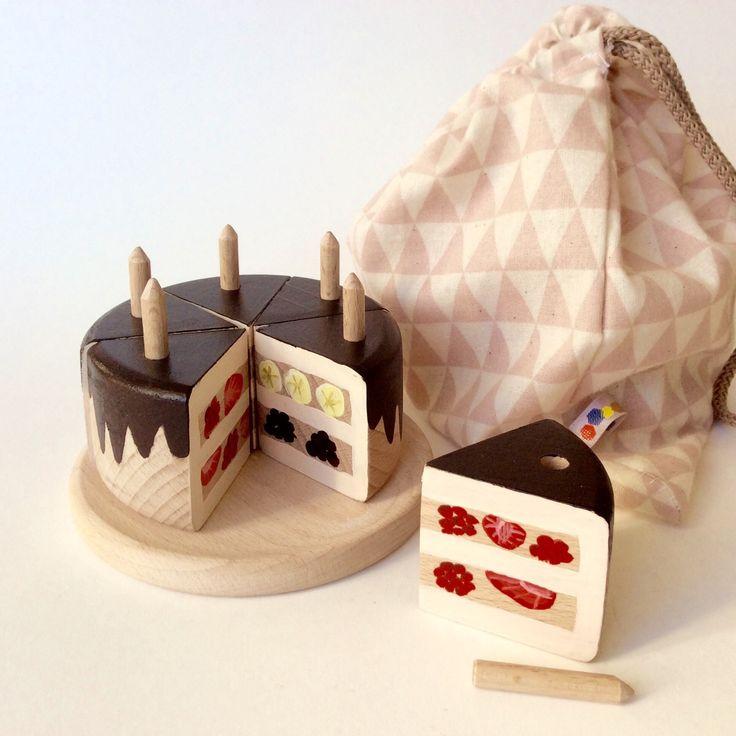 chocolate  wooden cake