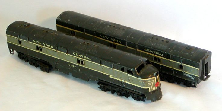 HO NEW YORK CENTRAL F7A & F7B Diesel Locomotive NYC Cast Metal Hobby Town Boston #HobbyTownofBoston