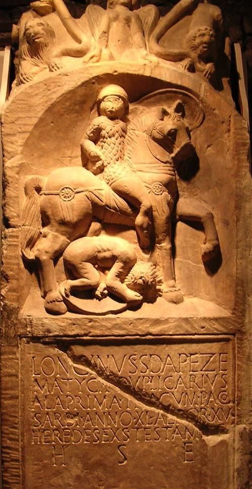 Gravestone of Longinus Sdapeze. A junior cavalry officer ...
