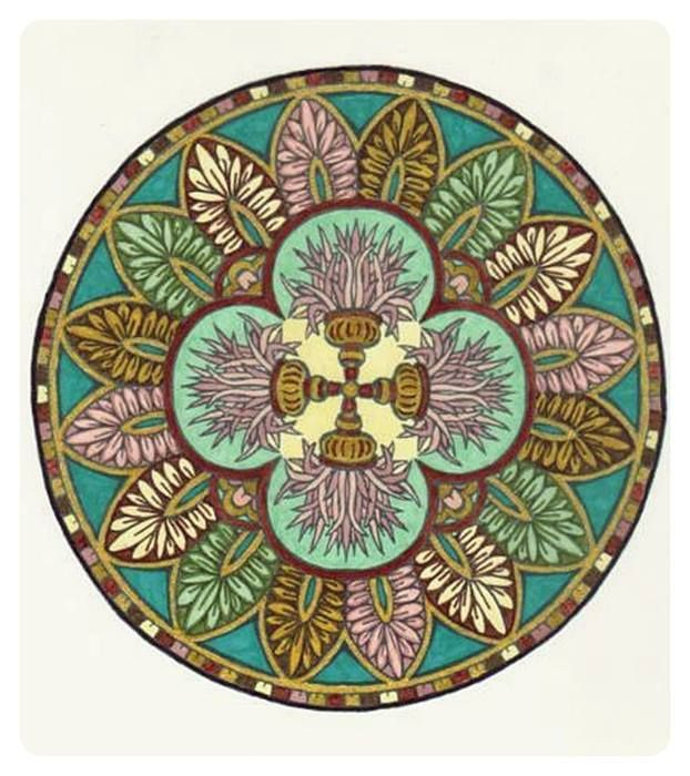 Mystical Mandalas Coloring Book P