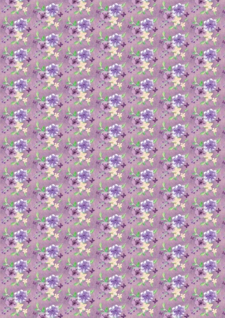 FF167-2 Floral Multi on Dark Lavender