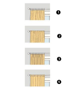 Guide to Window Treatments:  fabric, curtain length, how high above the window they should be hung, rod selection, installation.