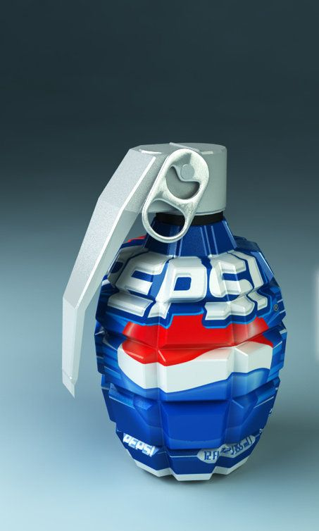 Pepsi - my hand grenade - I'm free now!!