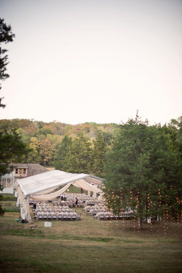 white tent wedding.