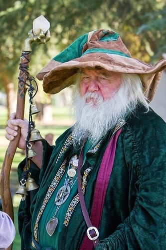 Wizard at Renaissance Festival