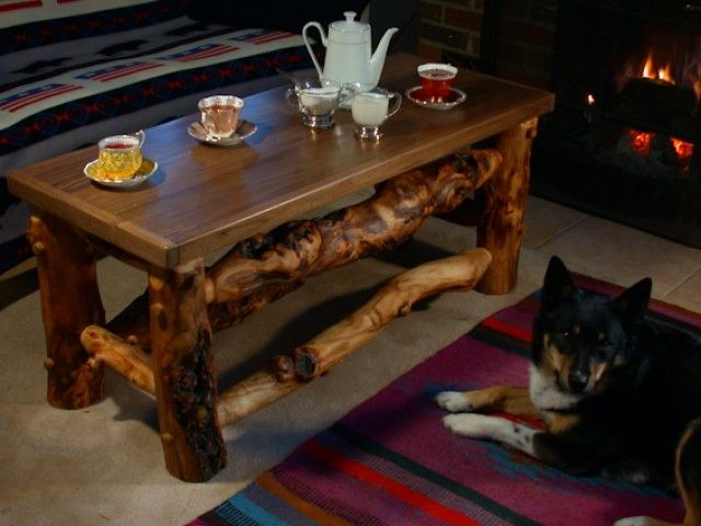 Unique Aspen Log Furniture With Rocky Mountain Character | RavenWinds Studio