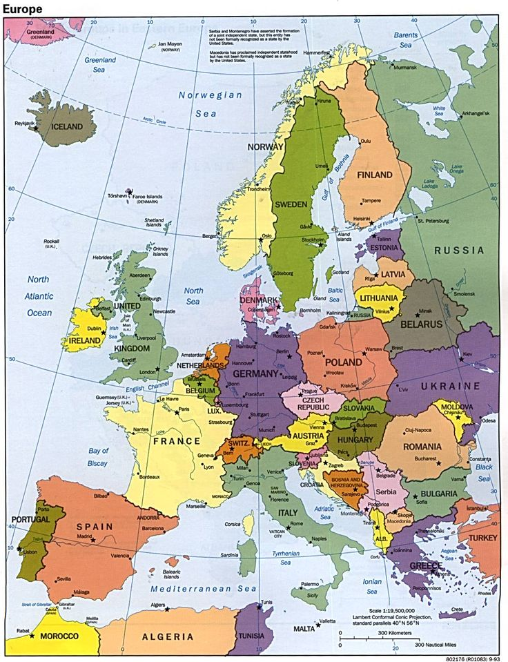 a map to get around Europe