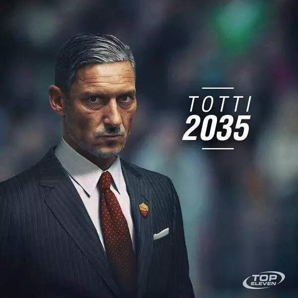 Legenda AS Romy w 2035 roku będzie wyglądał właśnie tak • Francesco Totti jako trener włoskiego klubu za 20 lat • Wejdź i zobacz >> #totti #football #soccer #sports #pilkanozna