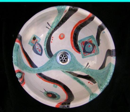 mejores 69 imágenes de bachas en pinterest | mosaicos, arte en ... - Bachas Para Bano Pintadas A Mano