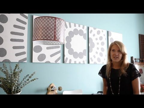 Tiny apartment [+ETSY shop] with big design - Tiny, Eclectic, Amazing Spaces video - Michelle Konar is a graphic designer, art director, runs an etsy shop out of her apartment and is a interior design enthusiast. She's created her own wall art, refurbished furniture from flea markets, and a put up a unique back splash made of cork in her kitchen.