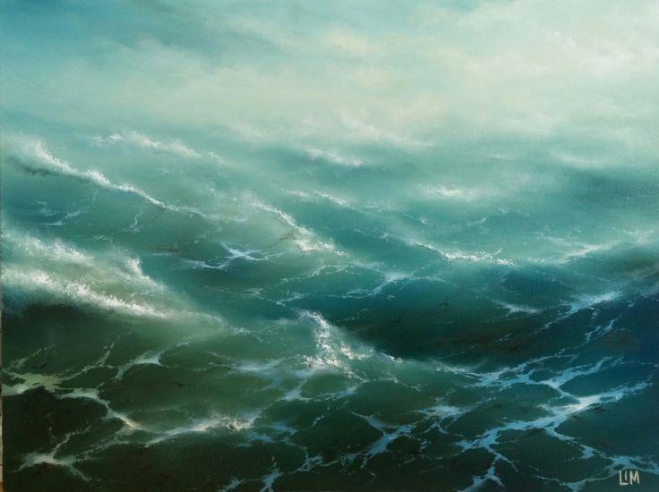 живопись - морской пейзаж, купить картину Волны 3
