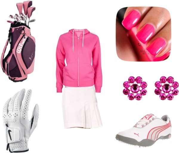 """""""Paula Creamer Inspired Golf Outfit"""" by maddytelford ❤ liked on Polyvore"""