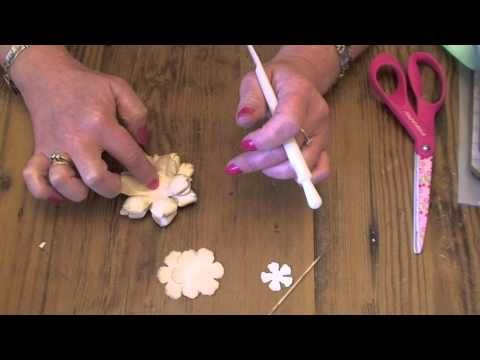 ▶ How to make the Tim Holtz tattered floral flowers - YouTube