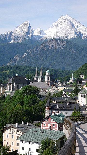 #Berchtesgarden #Bavaria #Bayern #Germany #Deutschland #Berge #Alpen #Stadt #Alpenblick