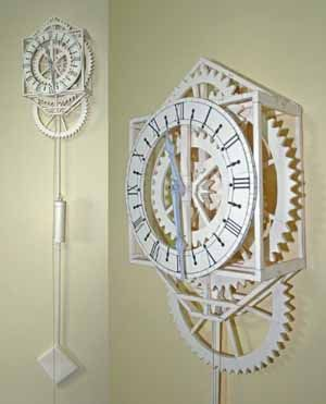 Working Japanese Papercraft Clock Free Template Download - http://www.papercraftsquare.com/working-japanese-papercraft-clock-free-template-download.html#Clock, #WallHanging