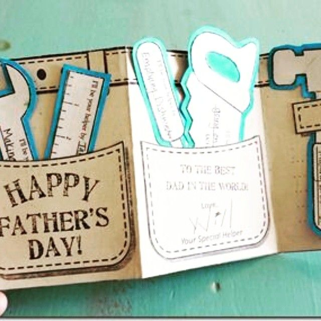 Such A Cute Diy Printable Tool Belt Card And It Is Free Via Lovebugsandpostcards Freeprintables Fath Fathersday Card Fathers Day Crafts Happy Fathers Day