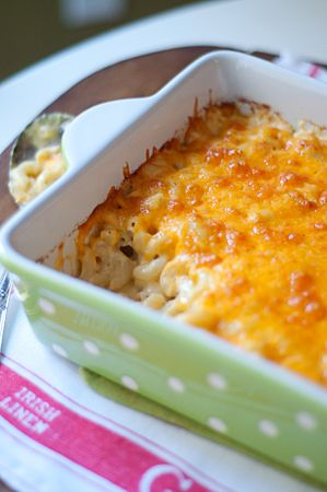 A classic, creamy, baked macaroni and cheese - Note to self; try this in the smoker.