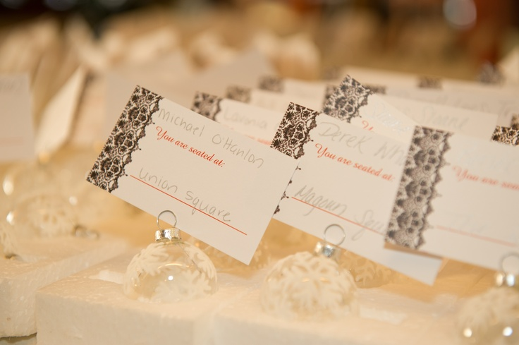 Place cards ordered through vistaprint