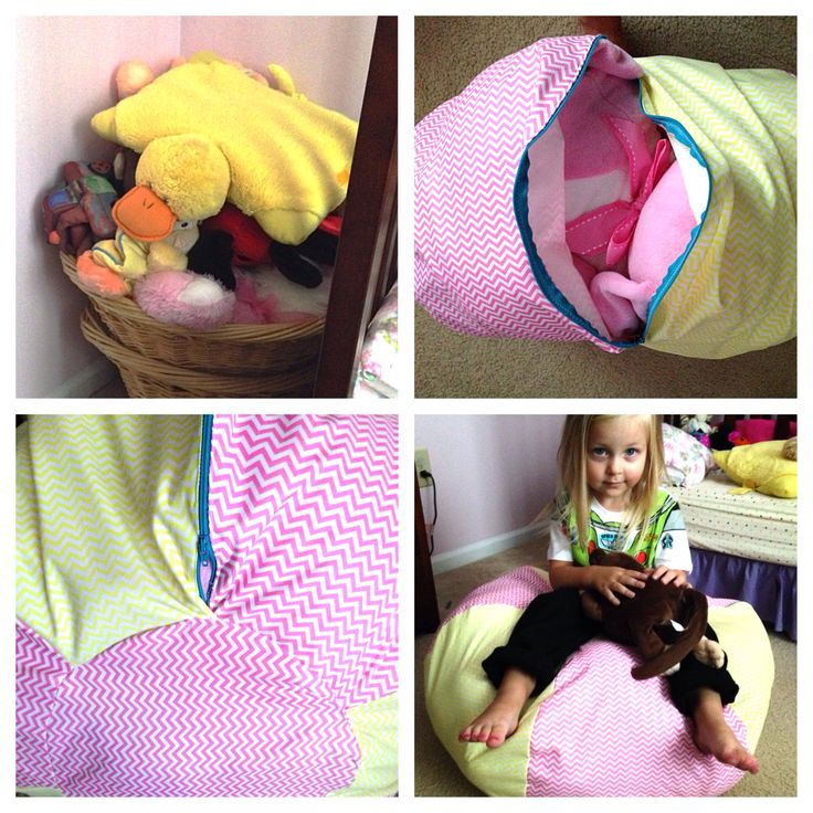 Stuffed Animal Bean Bag Chair NO TUTORIAL