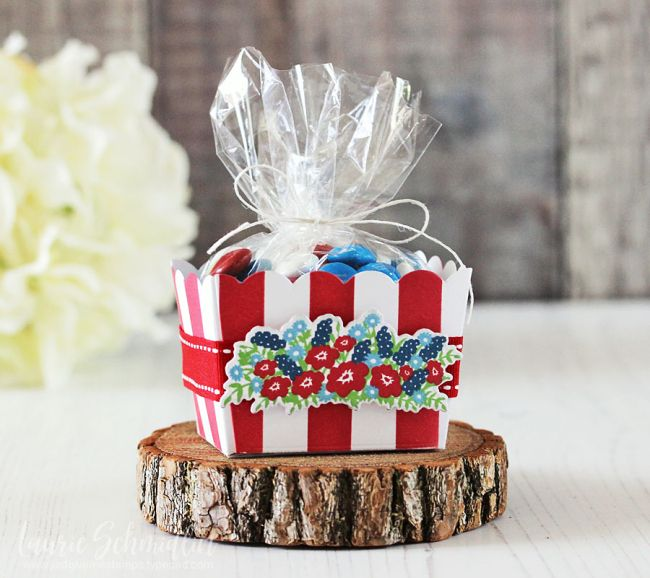 Patriotic Gift Basket by Laurie Schmidlin for Papertrey Ink (May 2017)