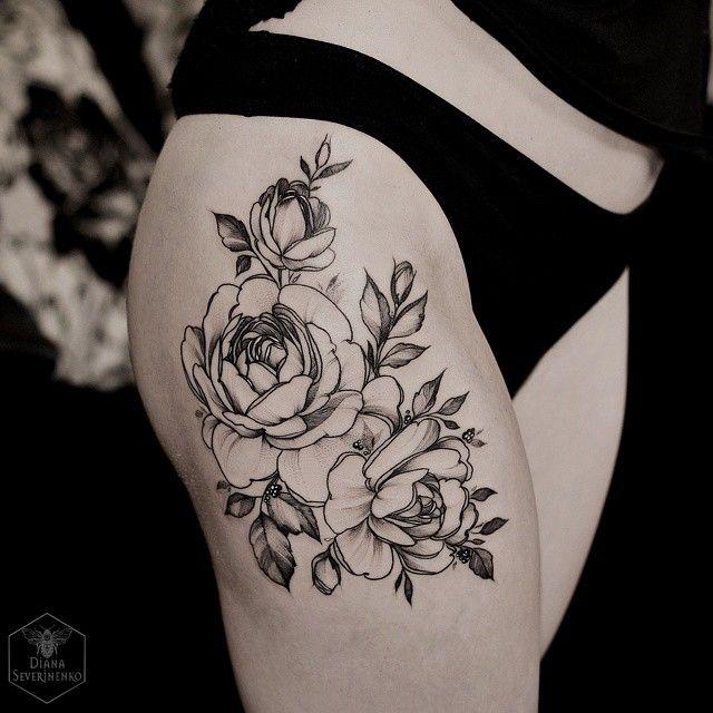 die besten 17 ideen zu tattoo oberschenkel auf pinterest tattoos f r frauen tattoo f r frauen. Black Bedroom Furniture Sets. Home Design Ideas